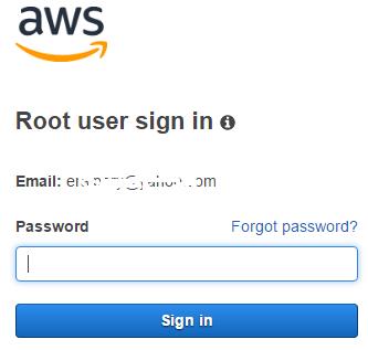 Amazon Web Services AWS Console