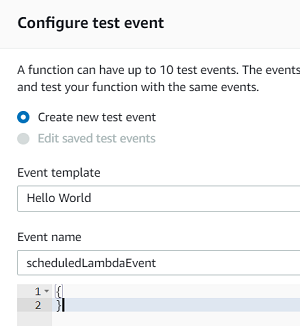 test AWS Lambda function code