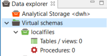 virtual schema details for file connector data sources