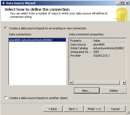 define-database-connection-in-data-source-configuration-wizard