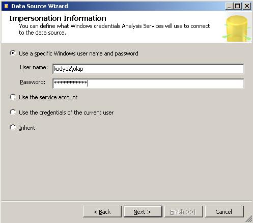 define-windows-credentials-sql-server-analysis-services-will-use