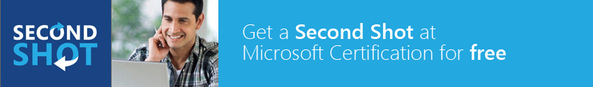 free second shot in Microsoft certification exams