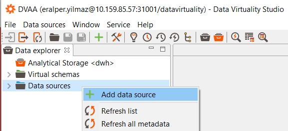 create data source for online CSV files on Data Virtuality