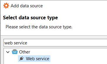 web service data source type