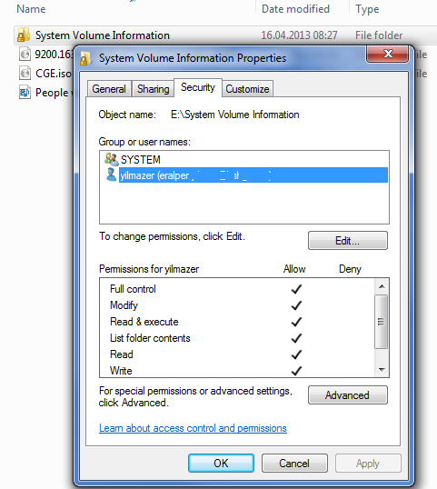 Existing Files are not Visible on External Disk