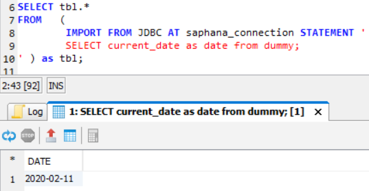 Connect Exasol to SAP HANA database