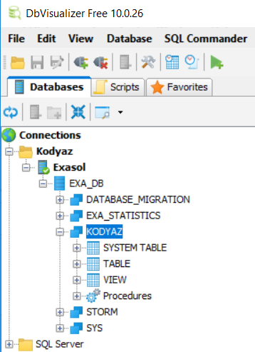 DbVisualizer Database Management Tool for Exasol Analytic Data Warehouse