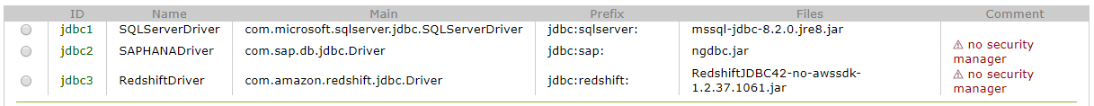 Redshift JDBC driver successfully uploaded to Exasol cluster