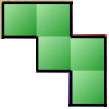 Block puzzle game ledder shaped tangram item