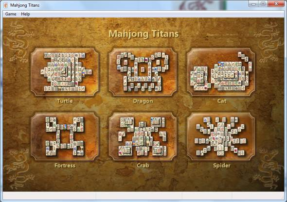 choose Mahjong Titans layout on Windows 7