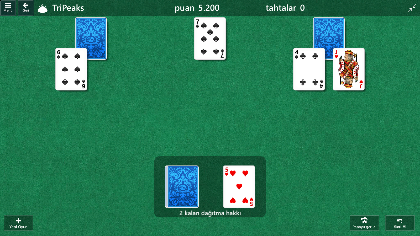 play TriPeaks with new Solitaire tips and tricks