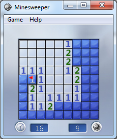 minesweeper tips - single mine tiles