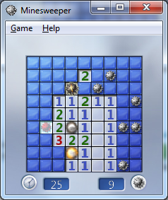 Windows 7 Minesweeper game animation