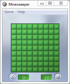Windows 7 Minesweeper game style for kids
