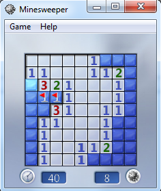 Windows game Minesweeper flags cheat