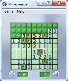 Windows Minesweeper tricks 2 mines