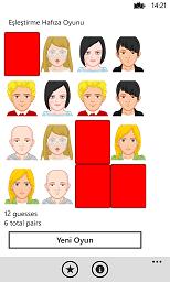 Windows Phone matching pairs game for kids