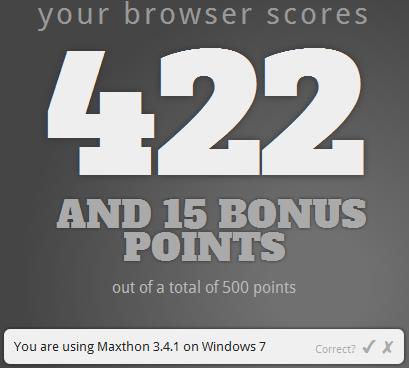 Maxthon HTML5 browser support