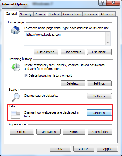 internet-options-general-tab-settings-for-ie-quick-tabs