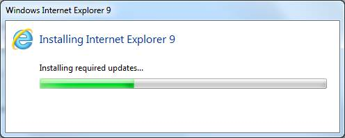 installing Internet Explorer 9 IE9