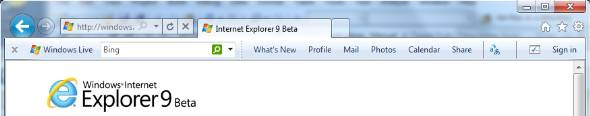 Windows Internet Explorer 9 IE9 toolbar