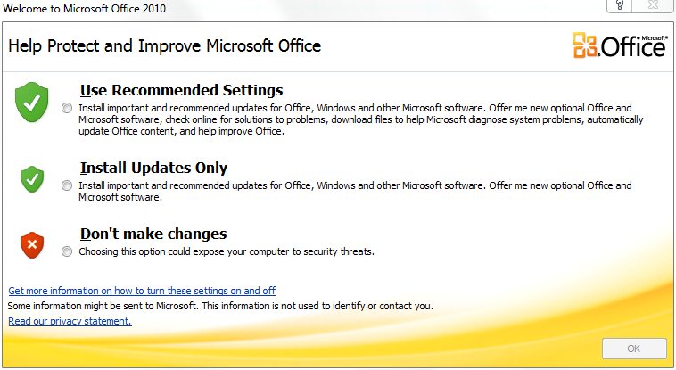 install updates for Office 2010