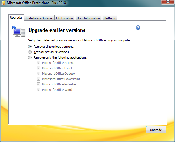 Uninstall Office 2007 from Windows 7