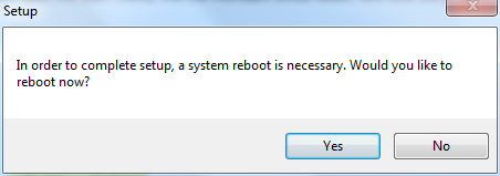 Windows 7 system reboot