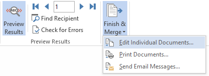 finish label design and merge with Excel data