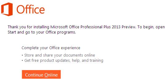 Microsoft Office 2013 Professional setup