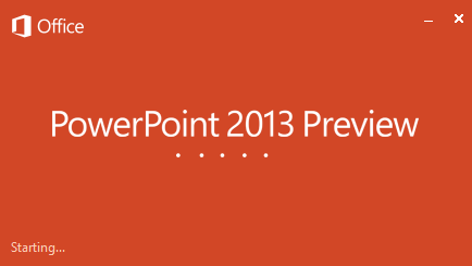 Microsoft PowerPoint 2013 download Preview edition