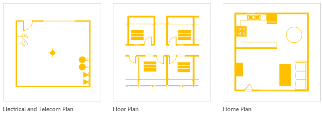 MS Visio 2013 floor and home plan templates