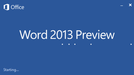 Microsoft Word 2013 download Preview edition