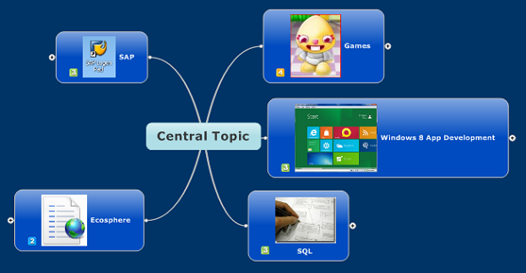 place central idea and related ideas in mind mapping