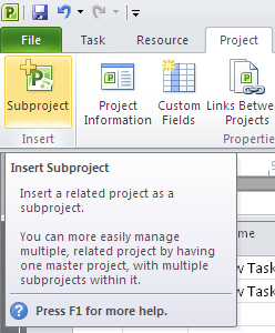 insert-subproject-in-microsoft-project-2010