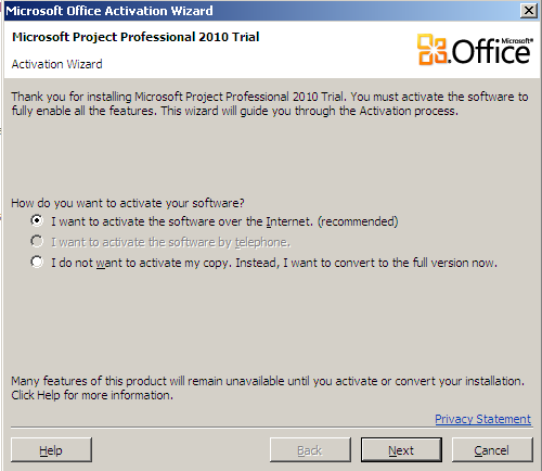 microsoft office 2010 convert trial to full version