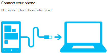 connect to your phone using Windows Phone app for desktop