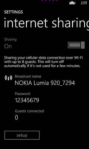 change Windows 8 phone broadcast name