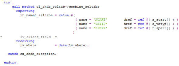 call class method with exception handling in ABAP
