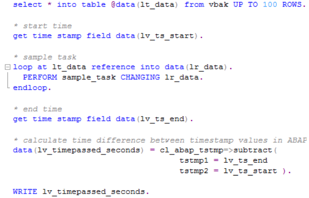 ABAP code for timestamp calculations