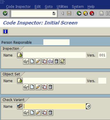 ABAP Code Inspector SCI SAP transaction