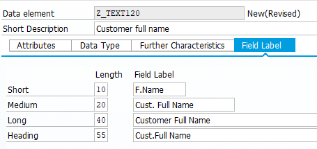 ABAP data element field labels for text translation