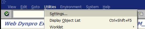 debugging settings for ABAP developer
