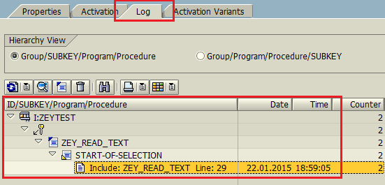 ABAP debugging with Log-Point