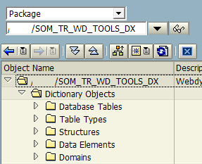ABAP development package for search help creation