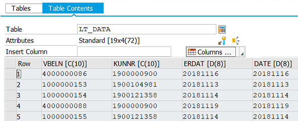 ABAP OpenSQL query data in debug mode