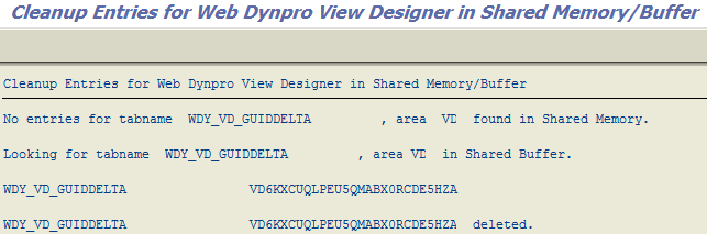 clear SAP Web Dynpro cache using ABAP report WDY_WB_VD_SH_MEM_BUFF