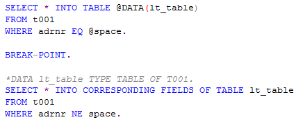 ABAP Select using SPACE instead of Null or Initial