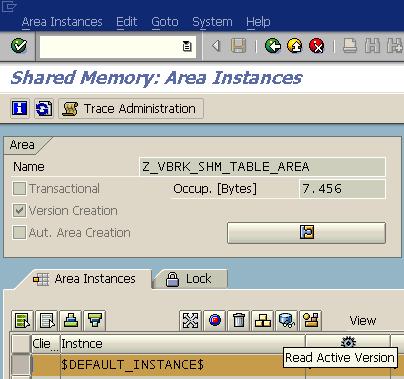 ABAP share memory area instances