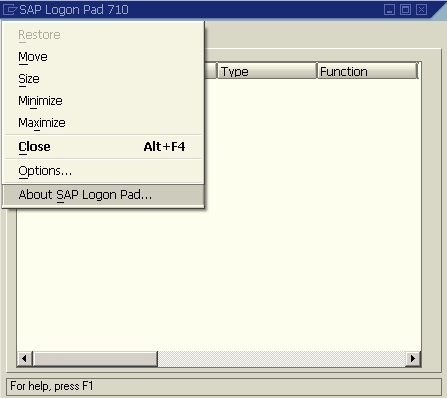 about-sap-logon-pad-710-version-info